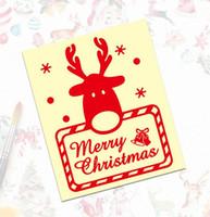 Wholesale car headlight decorations resale online - 072 new Christmas Fun Sticker merry Christmas Cartoon Reflective Car Sticker