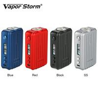 Wholesale box mod vapor electronic cigarette resale online - Vapor Storm Trip TC Mod for Vapor Storm Trip tank Thread Box Mod Dual batteries Electronic Cigarette Authentics
