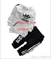 hazır giyim toptan satış-Bebek Erkek Ve Kız Takım Elbise Marka Eşofman Çocuklar Giyim Seti Sıcak Satmak Moda İlkbahar Sonbahar Uzun Kollu Giysi G-G1