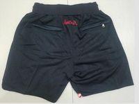 New Shorts Team Shorts Vintage Baseketball Shorts Zipper Pocket Running Clothes Black Color Just Done Size S-XXL