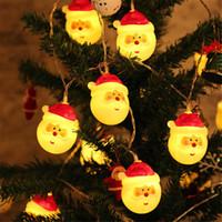 árvores de natal ao ar livre a pilhas venda por atacado-Luzes de Natal ao ar livre usam LED de fadas corda ilumina decorações para festas Xmas da árvore de Natal Garland da bateria ou USB Operado