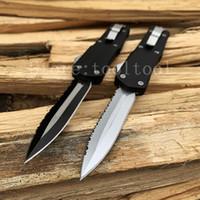 çinko bıçağı toptan satış-Sıcak Savaş A07 out ön Otomatik sağkalım bıçak 440C çelik Çinko alüminyum bıçaklar orijinal kutusunda Yeni Avcılık araçları