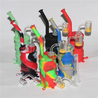 Wholesale nectar collectors quartz nails for sale - Group buy hot sale smoking dab rigs quartz nail silicone nectar collector dabber tools silicone water pipe silicone oil rigs bubbler glass water pipes