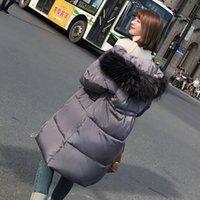 ağır bayanlar toptan satış-Pamuk dolgulu Giyim 2018 Kış Giyim Yeni Desen Aşağı Pamuk Kadın Kolay İnce Uzun Kalınlaştırıcı Ağır Seta Kurşun Gevşek Coat