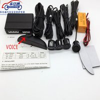Wholesale human voice for sale - Group buy human voice with Russian sensor Car Parking Sensor for all cars Reverse Assistance system without packing box