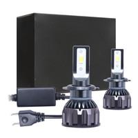 ingrosso luce di mini dimensioni ha condotto-Coppia fanali auto a led per 5202 H1 H3 H7 H11 H13 9004 9006 9007 Mini dimensioni 80W 8000LM DOB LED Kit faro lampadine faro 6500K