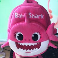 sacs à dos jaune enfants garçons achat en gros de-2019 nouveau dessin animé bébé requin sac d'école pour enfants enfants mignon sac à dos scolaire en peluche requin bébé bleu rose jaune couleur garçons cartable