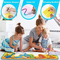 Wholesale aqua magic doodle mat resale online - Large Drawing Mat for Kids Free to Fly Water Painting Writing Doodle Board Toy Color Aqua Magic Mat Bring Magic Pens Educational Gift