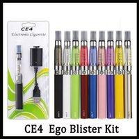 ego t blister kutusu toptan satış-Ego başlangıç kiti CE4 atomizer Elektronik sigara e çiğ kiti 650 mah 900 mah 1100 mah EGO-T pil blister durum Clearomizer E-Çiğ Ücretsiz Nakliye