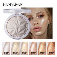 Wholesale face shimmer highlighter resale online - Brand handaiyan Highlighter Facial Bronzers Palette Makeup Glow Face Contour Shimmer Powder Body Base Illuminator Highlight Cosmetics