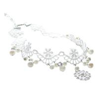 vestido de collar de perlas de las niñas al por mayor-Gargantilla para niñas de las mujeres, collar corto clásico blanco perla-MEJOR DECORACIÓN para vestido de verano