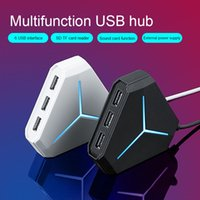 Wholesale usb multi sd card reader resale online - Multi USB Hub USB Splitter High Speed Ports Hub TF SD Card Reader with microphone interface For PC Computer Accessories