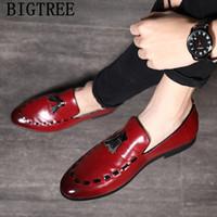 italienische schuhe elegant großhandel-Leder formale Schuhe Männer klassische italienische Marke offizielle Schuhe Männer elegante Partei für große Größe Sepatu Beleg auf Pria Bona