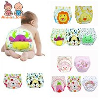 Wholesale diapers underwear baby resale online - 30pc designs Baby Diapers Children Reusable Underwear Breathable Diaper Cover Cotton Training Pants Can Tracked TRX0001MX190910