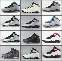 özgürlük basketbol ayakkabıları toptan satış-Eğitmenler 10 Erkek Basketbol Çelik Gri Cdp 10s Yeni Powder Blue Lady Liberty Chicago Paris Şehir Paketi Sneakers Ayakkabı