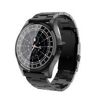 luxus-schrittzähler großhandel-DT19 Männer Smart Watch Trendy Uhren Luxus Male dünne Stahlband Pedometer Fitness Armband-Band-Schlaf-Monitor Smart-Armband