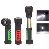 Wholesale bulb band resale online - COB Work Lights Multi Angle Telescopic LED Flashlight With Magnetic Band Hook Outdoor Camping Hiking Hunting Lighting