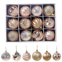Wholesale handmade craft displays resale online - 12pcs Christmas Tree Balls Party Decorations Art Display For Events New Year Holiday Season Handmade Ornament Craft