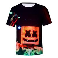 camiseta dj al por mayor-37 colores 3D Marshmello T-Shirt Summer Women Men Tees Camiseta de manga corta DJ Sports Street Beach Camisas Plus Size Outfit A53004