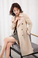 lange mantel weibliche modelle großhandel-2019 neue Produktexplosion Modelle heißes Temperament g doppelseitigen Mantel weiblichen langen Abschnitt lose Wollmantel koreanische Version
