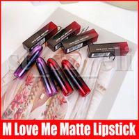 lábios amor venda por atacado-M Lip Makeup Gradação Matte Batons Love Me Lipstick 12 cores Luster Sexy Lip Make Up 3g