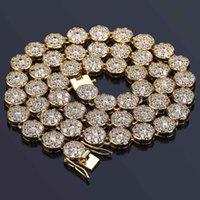 ingrosso chiodo decorare-Catenina ghiacciata Collana pendente con pendente a forma di diamante pieno Hip Hop Ciondolo in rame con zirconi cubici decorati Diamond Diamond Cuban Llink Chain