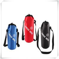 gelber schwarzer käfighalter großhandel-Universal Kordelzug Wasserflasche Beutel Hohe Kapazität Hohe Qualität Isolierte Kühltasche Für Reisen Camping Wandern