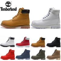 Wholesale unisex heels for sale - Group buy Designer Timberland Boots Shoes for Men Women triple black white chestnut brown navy Classic mens Martin Boot outdoor jogging