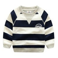 Wholesale striped t shirts for kids for sale - Group buy Boys Sweatshirts Long Sleeve Brand Spring Striped T shirts for Boys Cotton Children Boy Clothes Baby Hoodies Pullover Kids Tops