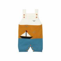 ingrosso bambino ragazzo lavorato a maglia pagliaccetto-New Baby Boys and Girls pagliaccetto Kids Knitted Boat Suspender One Piece Tuta Moda vestiti del bambino