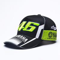 rossi şapkaları toptan satış-Iggy Yüksek Kalite Moto Gp 46 Motosiklet 3d Işlemeli F1 Yarış Kap Erkek Kadın Snapback Rossi Vr46 Beyzbol Şapkası Yamaha Şapkalar Caps 00
