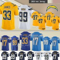 Wholesale football jerseys 99 resale online - Los Angeles jerseys Chargers Philip Rivers Derwin James Joey Bosa Bosa Gordon new jersey TOP quality