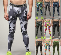 c220d9373af4e Wholesale camouflage army green leggings for sale - New men s compression  long camouflage sportswear fitness