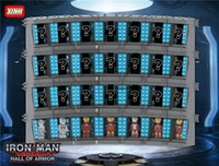 eisen mann film zahlen großhandel-Iron Man Figuren Kriegsmaschine Rüstungshalle Bausteine Kinderspielzeug Superheld Rüstung Garage Figur Fall MOC the Avengers Movie Endgame