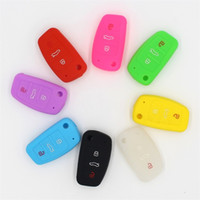 Wholesale cover for audi tt for sale - Group buy 3 Button Silicone Car Remote Key Fob Shell Cover Key Case For Audi A1 S1 A3 S3 A4 A6 RS6 TT Q3 Q7