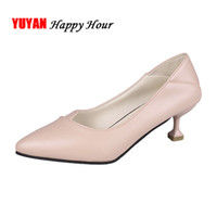 Wholesale womens wide wedding band resale online - High Heels Sexy Ladies Shoes Pointed toe High Heel Fashion Womens Pumps Office Ladies Shoes Black Thin Heel cm A428