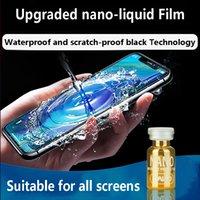 en ateşli teknoloji toptan satış-Sıcak Yükseltildi Sürüm Nano Altın Sıvı Ekran Koruyucu Cam Koruma Nano Tech Premium Kalite (tüm Marka Mobilephone Uygun)
