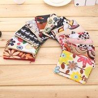 милые корейские кошельки оптовых-Корейский принт холст мода портмоне ключ творческий мини милые сумки на молнии дети мальчики девочки кошелек