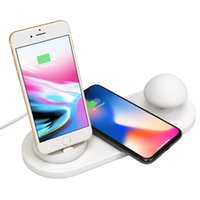 Wholesale chinese touch pads resale online - Night Light Wireless Charger with Touch control Silicone Mushroom Night Light Wireless Charging Pad for iPhone X XR XS