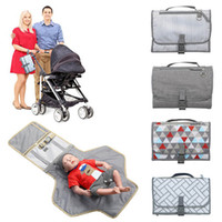 Wholesale diapers for infants resale online - Portable Changing Station For Newborn Baby Infant Lightweight Travel Home Diaper Changer Mat With Pockets Multifunction Changing Pads