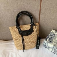Wholesale brown woven tote bags resale online - BAL designer handbags Weaving style women handbag high quality large capacity shopping bags fashion totes purse bag