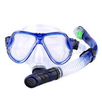 Wholesale uv swim goggles resale online - Summer Dry Snorkel Goggles Set Wide View Anti Leaking Anti UV Swimming Glasses Diving Mask BB55