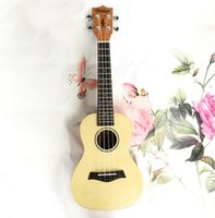 Wholesale 23 inch guitar for sale - Group buy Factory guitar inch ukulele fish bones spruce mahogany uklele beginner four string small guitar