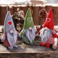 el yapımı yılbaşı süsü toptan satış-El yapımı İsveç Doldurulmuş Oyuncak Santa Bebek Gnome İskandinav Tomte Nordic Nisse Sockerbit Cüce Elf Ana Süsler Noel Noel