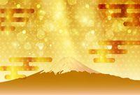 Wholesale polka dot backdrop resale online - Laeacco Brilliant Shiny Mountain Fuji Japanese New Year Polka Dots Photo Backdrops Backgrounds Backdrops Photocall Photo Studio