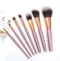 Wholesale brush sets leather resale online - eye shadow brush kit eyes Makeup Brushes set eyeshadow Foundation Powder Blusher Brush Cosmetics Tools With Leather Case CZ102