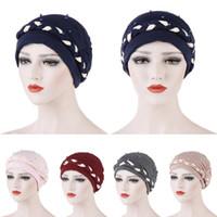 Wholesale gold braiding hair for sale - Group buy Women Muslim Turban Hat Beads Braid Head Wrap Cover Cancer Chemo Cap Beanie Hat Islamic Bonnet Hair Loss Arab India New