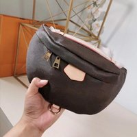 Wholesale real chest resale online - Top quality Double zipper Waist Bags for women real leather belt chest Bags brand Waistpacks for laides without box