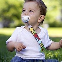 детские клипсы пружины оптовых-Baby Pacifier Cartoon Infant Toddler Spring Pacifier Nipple Clip Chain 1PCS Newborn Nipple Clip Chain Baby Boy Girls