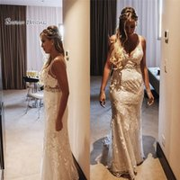 Wholesale high quality lace evening dresses resale online - 2019 Long Mermaid Evening Dress With V neck and Lace Appliques Sleeveless High End Quality Dress Custom Made Hot Sales